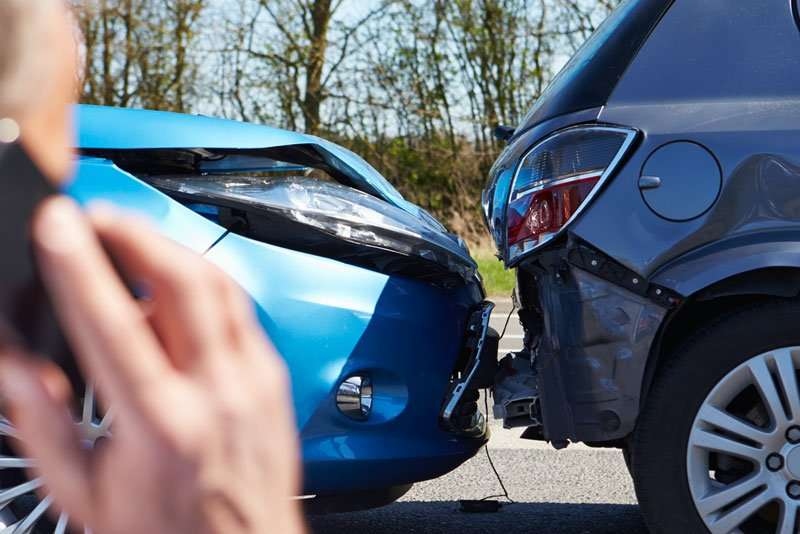 Car accident caused by dangerous or careless driving